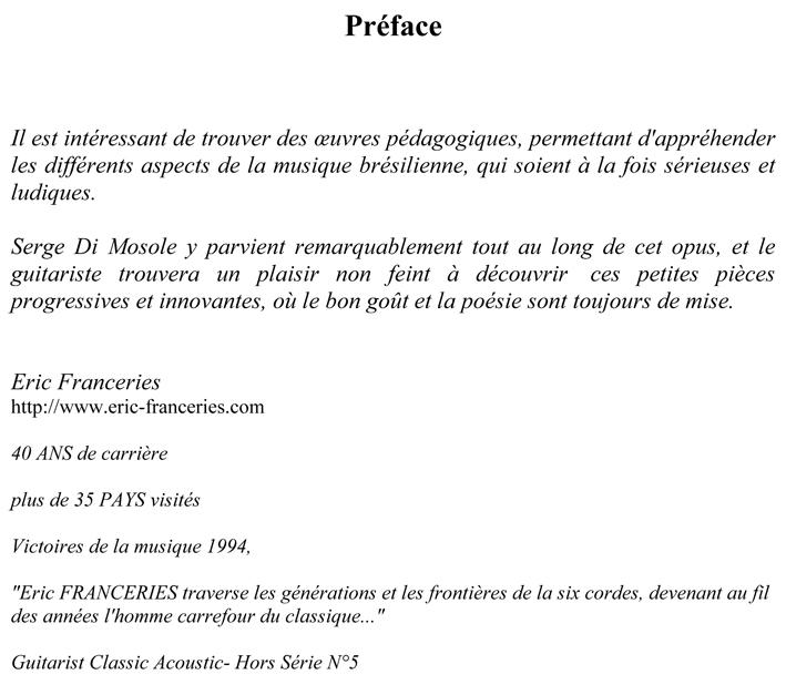 Petite suite brésilienne ES1140 preface sur site