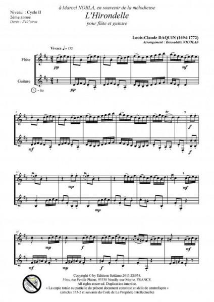 L'hirondelle (flûte et guitare)