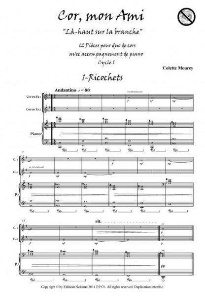 Cor, mon Ami (duo de cors en fa et piano)