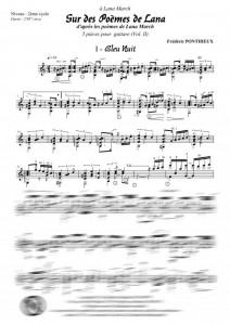 Sur des poèmes de Lana VOLUME 2 (guitare)