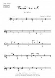 Tendre ritournelle (guitare)