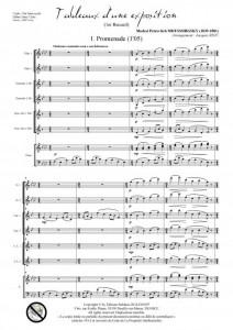 Tableaux d'une exposition - 1er recueil (ensemble à vents et piano)