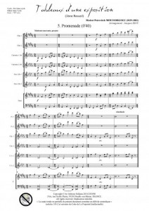 Tableaux d'une exposition - 2ème recueil (ensemble à vents et piano)