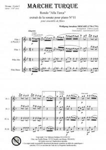 Marche Turque (ensemble de flûtes)