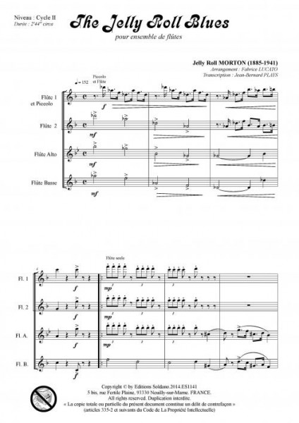 The Jelly Roll blues (ensemble de flûtes)