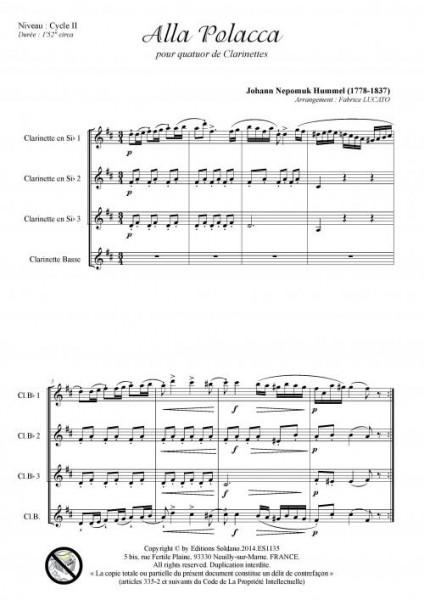 Alla Polacca (quatuor de clarinettes)