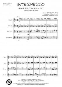 Intermezzo (ensemble de flûtes)