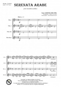 Serenata arabe (ensemble de flûtes)