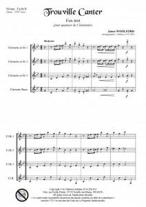 Trouville Canter (quatuor de clarinettes)