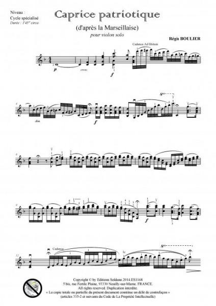 Caprice patriotique (violon)