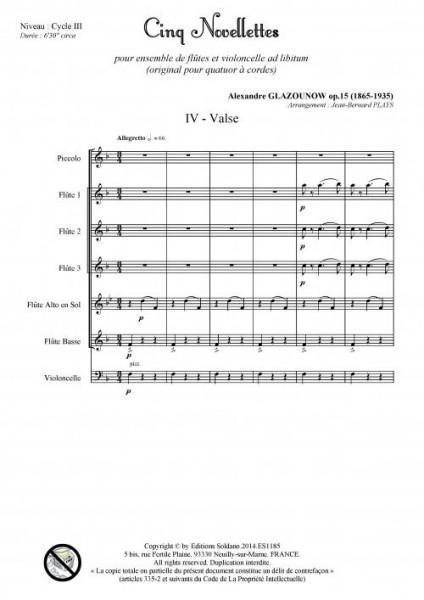 Cinq novellettes -n°4- (ensemble de flûtes et violoncelle ad lib.)