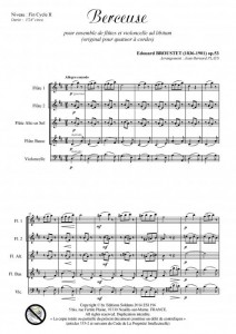 Berceuse (ensemble de flûtes et violoncelle ad lib.)