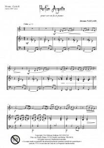 Parfum argentin (cor en fa et piano)