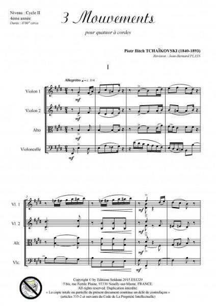 3 mouvements (quatuor à cordes)