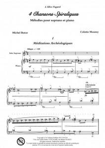 4 chansons spiraliques (soprano et piano)