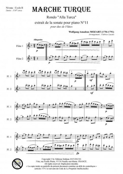 Marche Turque (duo de flûtes)
