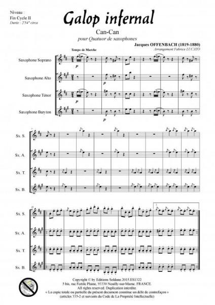 Galop infernal (quatuor de saxophones)