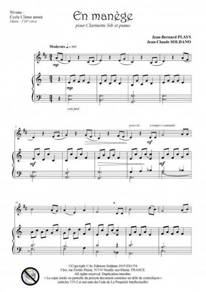 En manège (clarinette et piano)