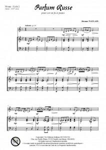 Parfum russe (cor en fa et piano)