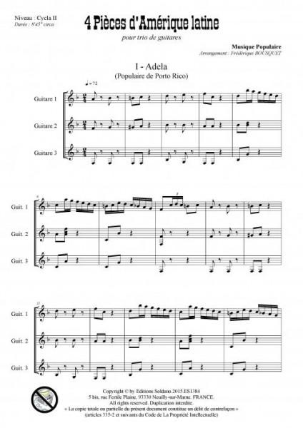 4 pièces d-Amérique latine (trio de guitares)