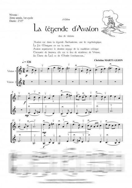 La légende d'Avalon (duo de violons)