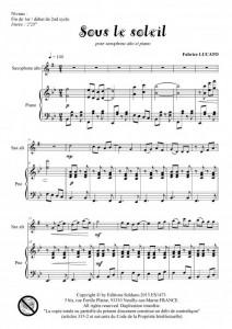 Sous le soleil (saxophone alto et piano)