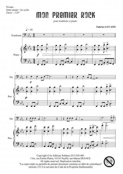 Mon premier rock (trombone et piano)