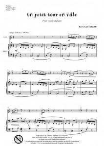Un petit tour en ville (violon et piano)