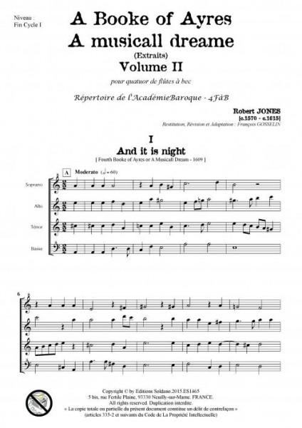 A Book of Ayres -Volume 2- (quatuor de flûtes à bec)