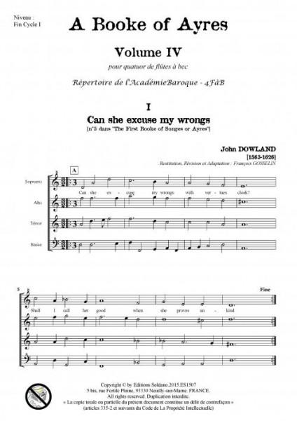 A Book of Ayres -Volume 4- (quatuor de flûtes à bec)