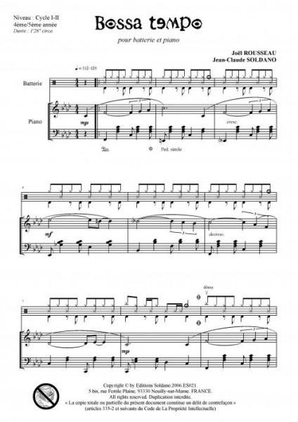 Bossa tempo (batterie et piano)