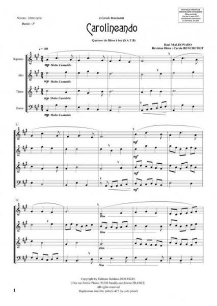 Carolineando (quatuor de flûtes à bec)