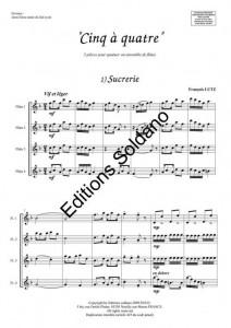Cinq à quatre (quatuor de flûtes)