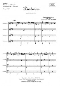 Tambourin (ensemble de clarinettes)