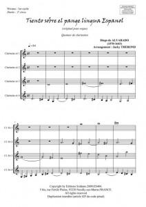 Tiento sobre el pange lingua Espagnol (quatuor de clarinettes)