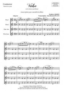 Valse en la mineur (ensemble de flûtes)