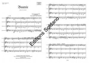 Bourrée (quatuor de clarinettes)