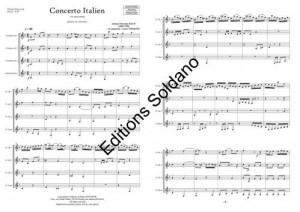 Concerto italien (ensemble de clarinettes)