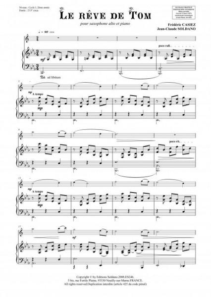 Le rêve de Tom (sax alto/piano)