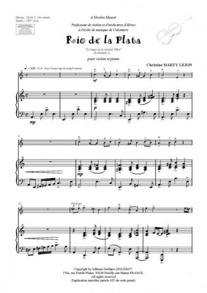 Rio de la plata (violon et piano)