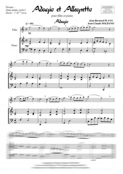 Adagio et Allegretto (flûte et piano)