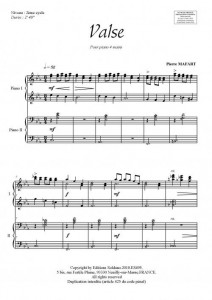 Valse (piano 4 mains)