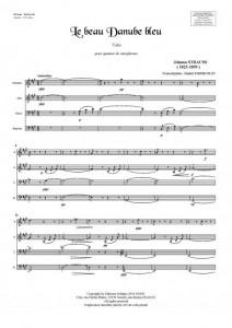 Le beau Danube bleu (quatuor de saxophones)