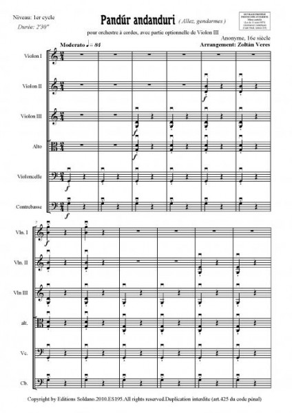 Pandur andanduri (orchestre à cordes)