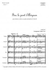 Sur le pont d'Avignon (orchestre à cordes)