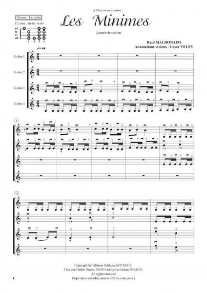 Les minimes (quatuor de violons)