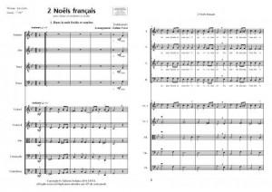 2 Noëls français (Choeur mixte et orchestre à cordes)