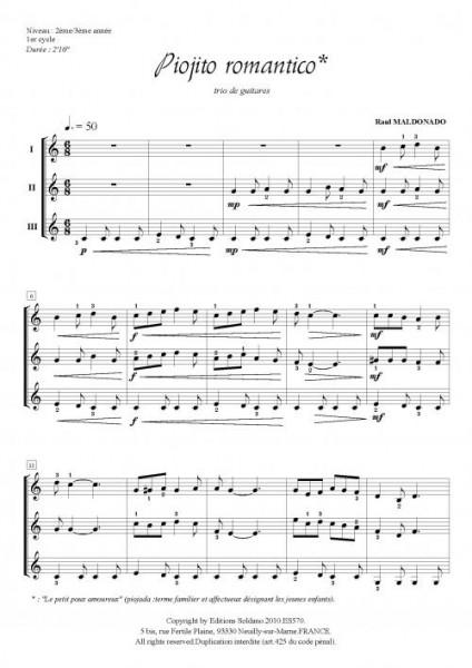 Piojito romantico (trio de guitares)