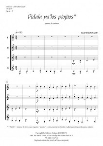 Vidala pa'los piojitos (quatuor de guitares)