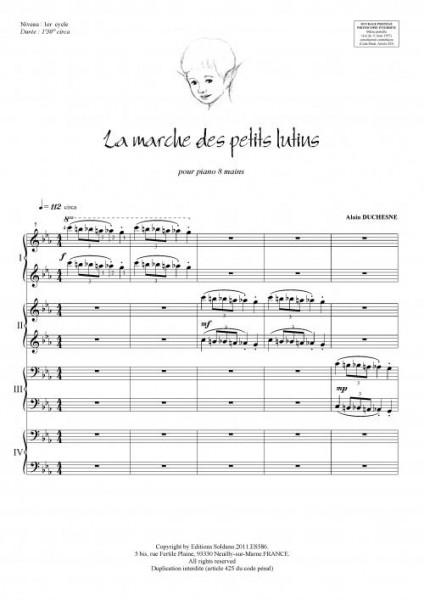 La marche des petits lutins (piano 8 mains)